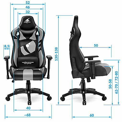 Wymiary najlepszego krzesła do komputera Dragon