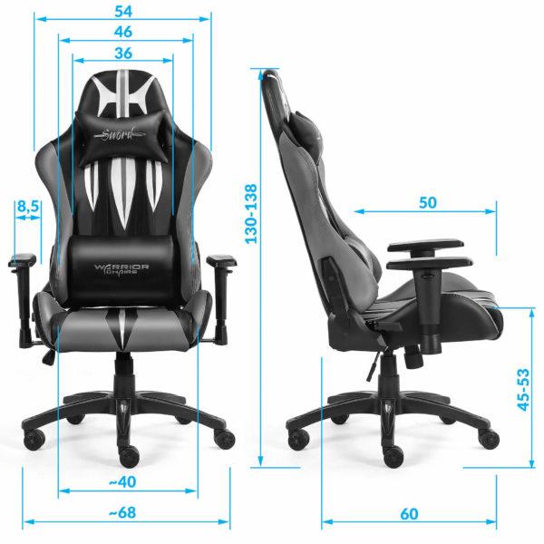 Wymiary fotela obrotowego do komputera Sword