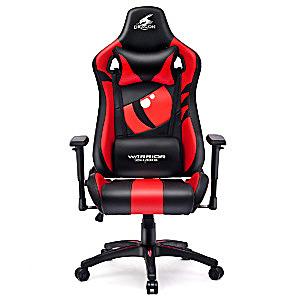 Czerwony fotel do gier komputerowych Dragon