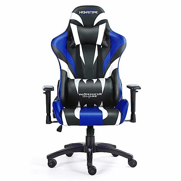Niebieski fotel komputerowy Monster