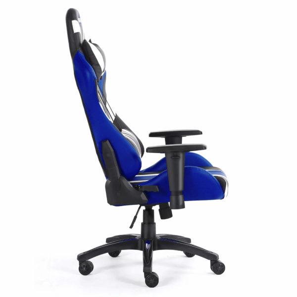 Bok krzesła do komputera niebieskie blue Monster