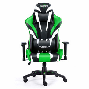 Fotel zielony do gier komputerowych Monster