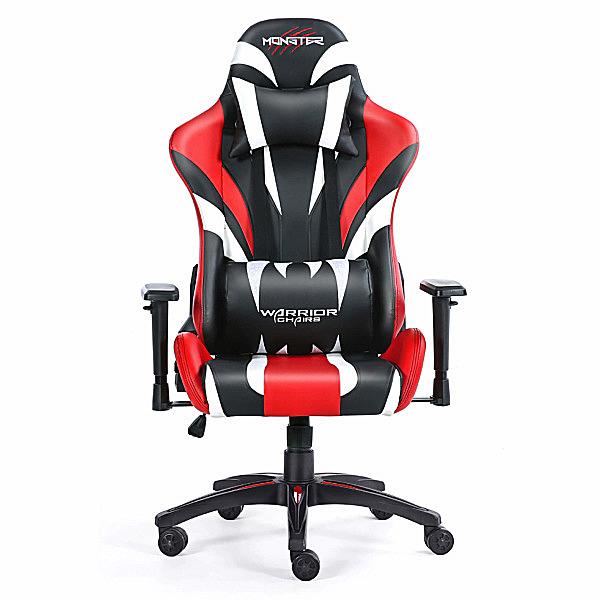 Czerwone krzesło do komputera dla gracza Monster
