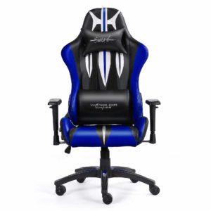 Krzesło gamingowe niebieskie Sword z przodu
