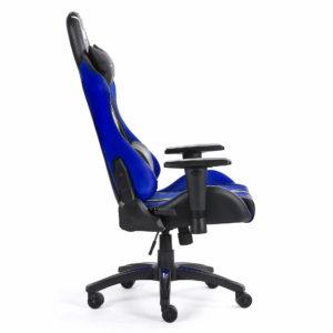 Krzesło biurowe dla gracza niebieskie Sword z boku