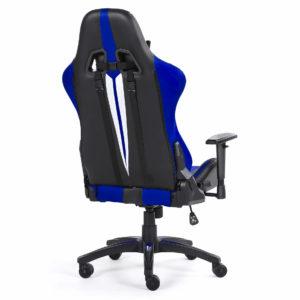 Ergonomiczne niebieskie krzesło do komputera od tyłu Sword
