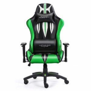 Krzesło zielone obrotowe gamingowe Sword