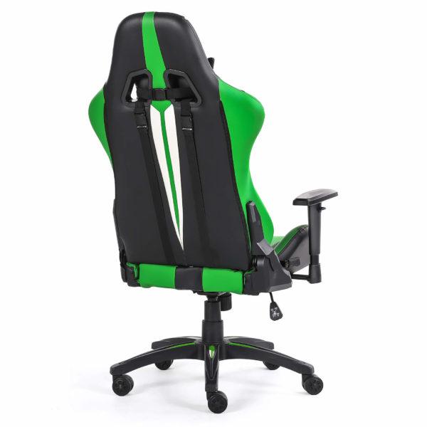 Fotel gamingowy zielony Sport od tyłu