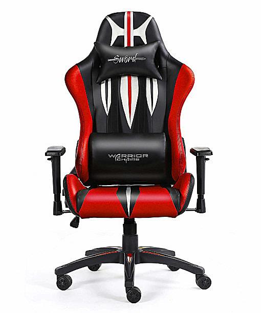 Krzesło komputerowe czerwone ergonomiczne Sword