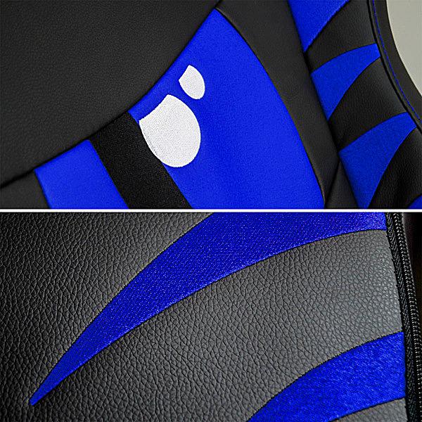 Detale niebieskiego fotela do gamingu Dragon