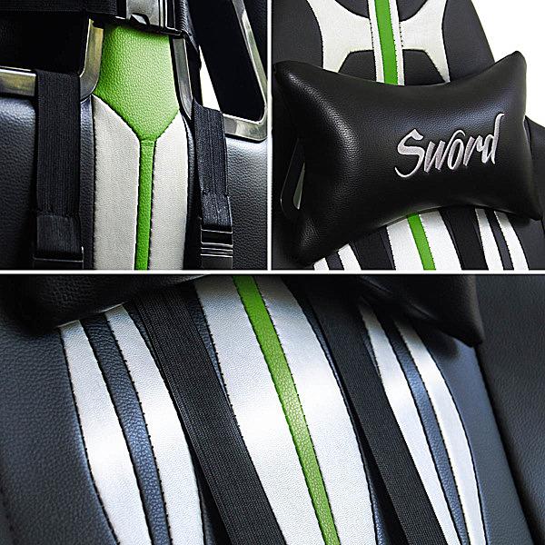 Detale krzesła gracza zielonego Sword