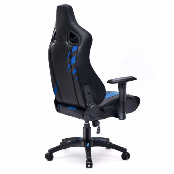 Tył i bok niebieskiego fotela do playstation Dragon