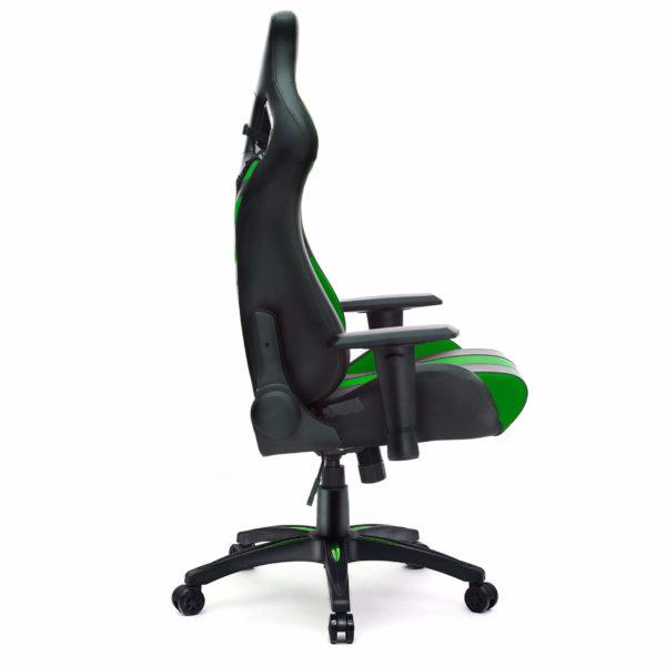 Bok fotela zielonego obrotowego dla gracza Dragon