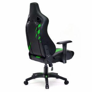 Krzesło do grania zielone Dragon z boku
