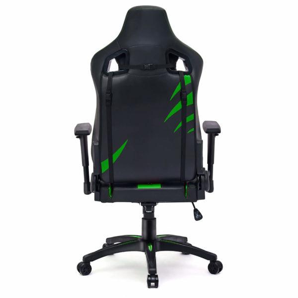 Tył krzesła gamingowego zielonego Dragon