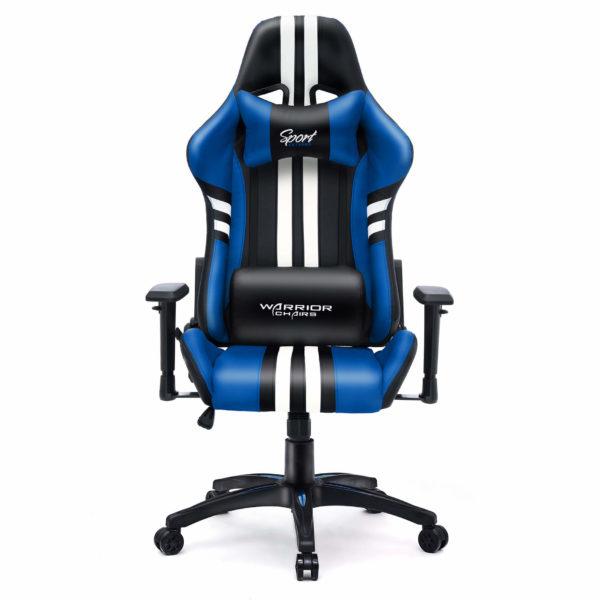Niebieski fotel do gamingu Sport