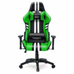 Zielone krzesło biurowe gamingowe Sport