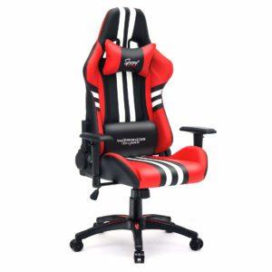 Krzesło gamingowe czerwone red Sport z boku
