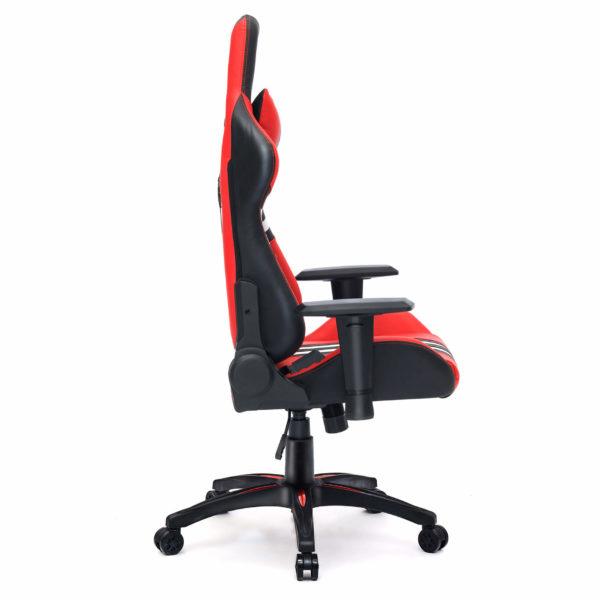 Bok czerwonego krzesła biurowego dla gracza Sport