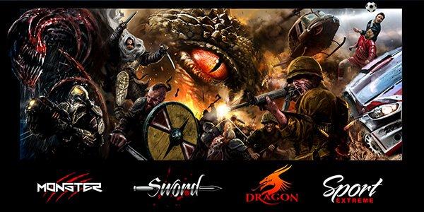 Fotele komputerowe dla graczy – Monster, Sword, Dragon i Sport