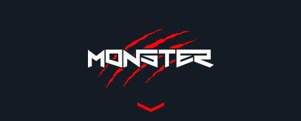 Logo foteli komputerowych Monster