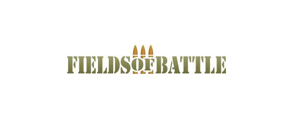 Logo krzeseł komputerowych dla graczy Fields of battle