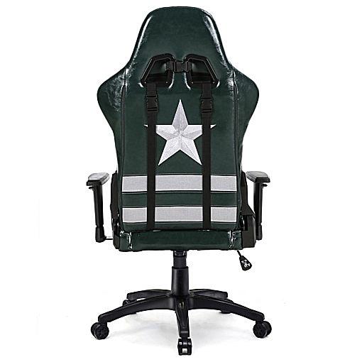Krzesło do komputera ergonomiczne Fields of battle tył